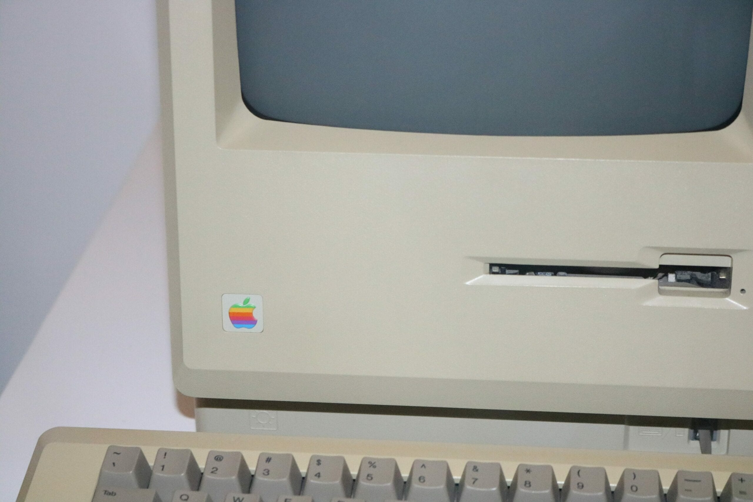 An older Mac illustrating the change in the web design process as compared to the 90s and 00s