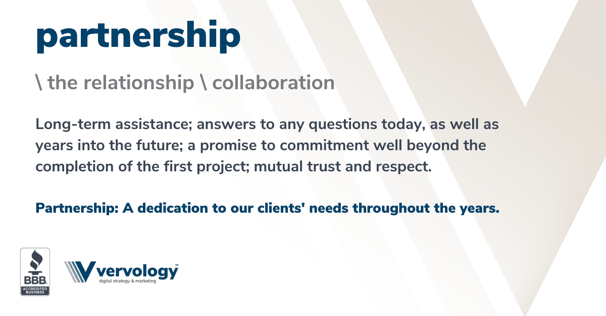 Long-term assistance; answers to any questions today, as well as years into the future; a promise to commitment well beyond the completion of the first project; mutual trust and respect.