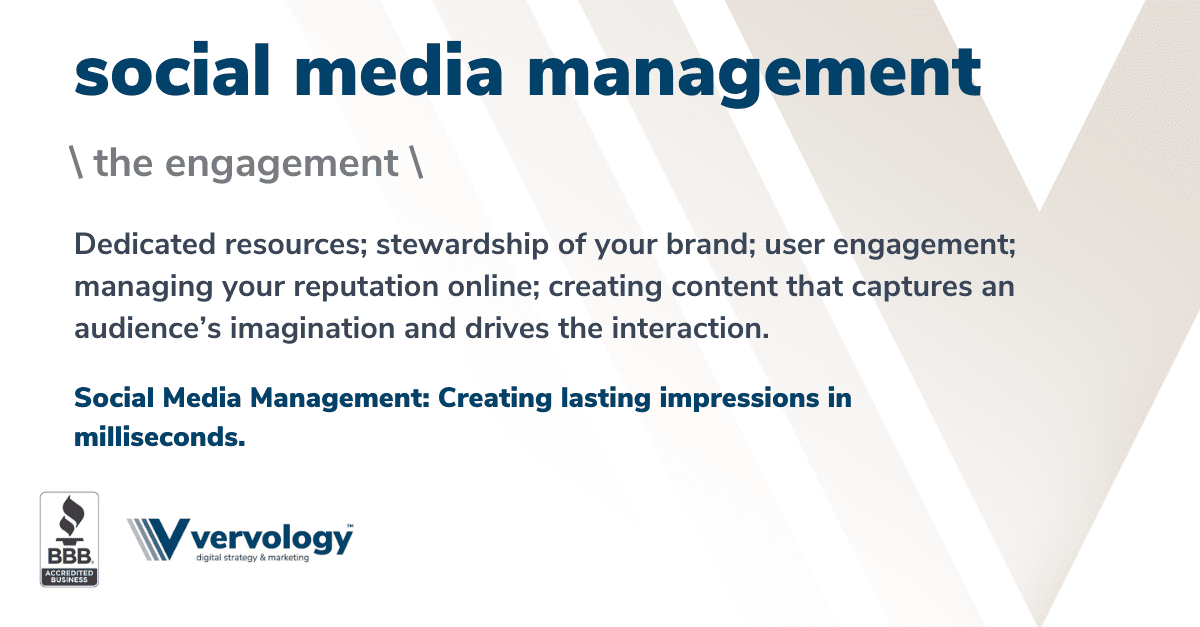 Dedicated resources; stewardship of your brand; user engagement; managing your reputation online; creating content that captures an audience's imagination and drives the interaction.