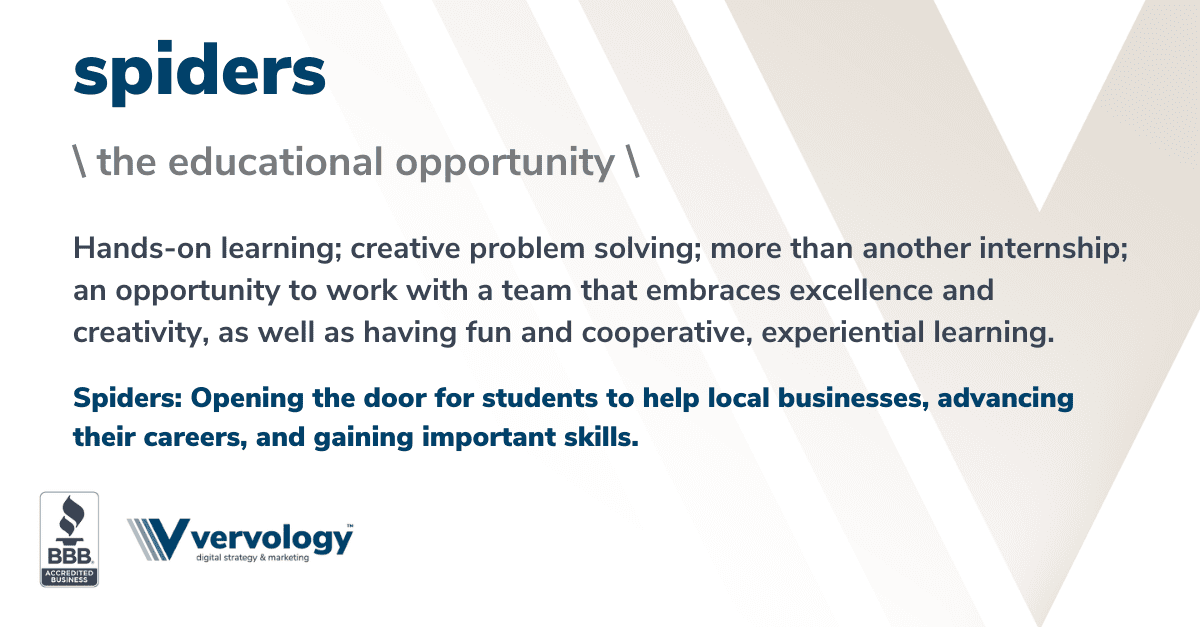 Hands-on learning; creative problem solving; more than another internship; an opportunity to work with a team that embraces excellence and creativity, as well as having fun and cooperative, experiential learning.