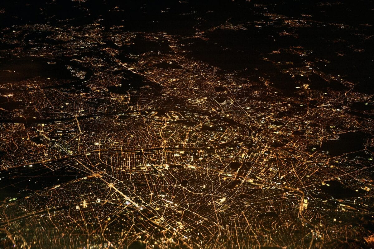 The power grid from far above