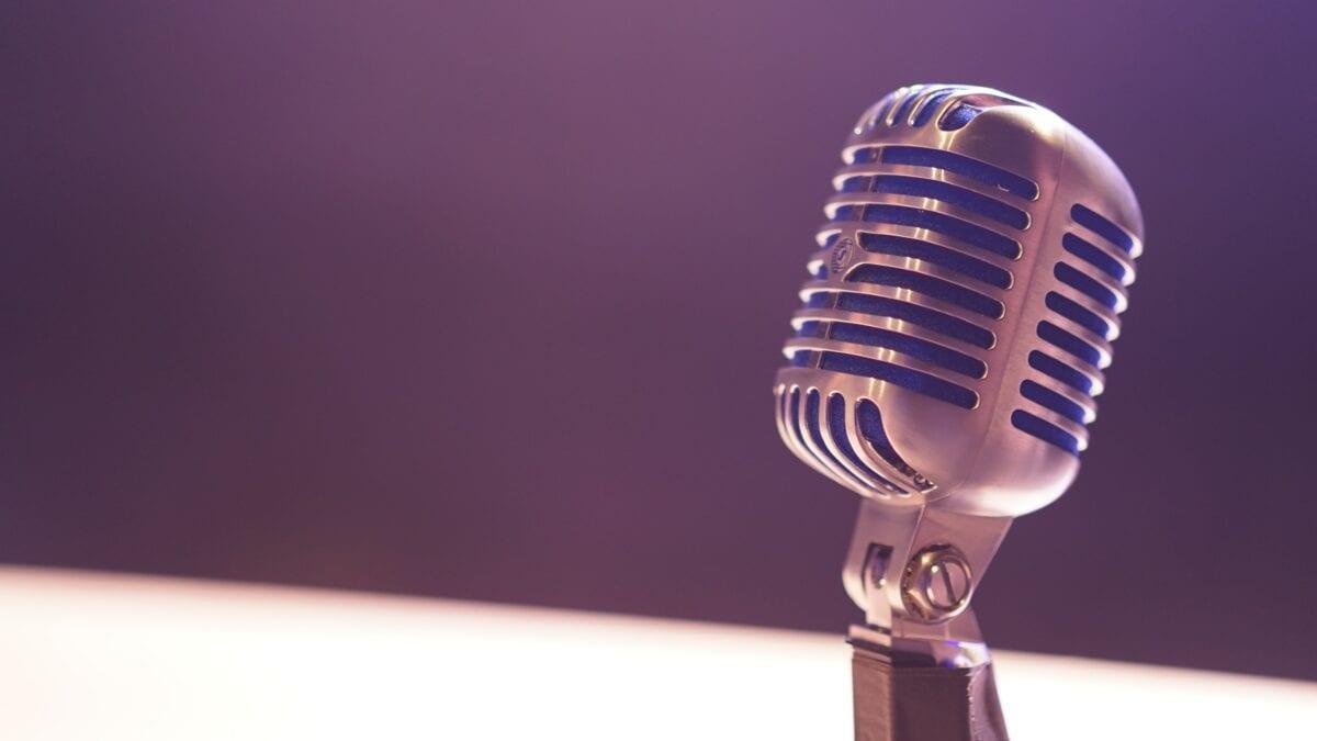A vintage microphone