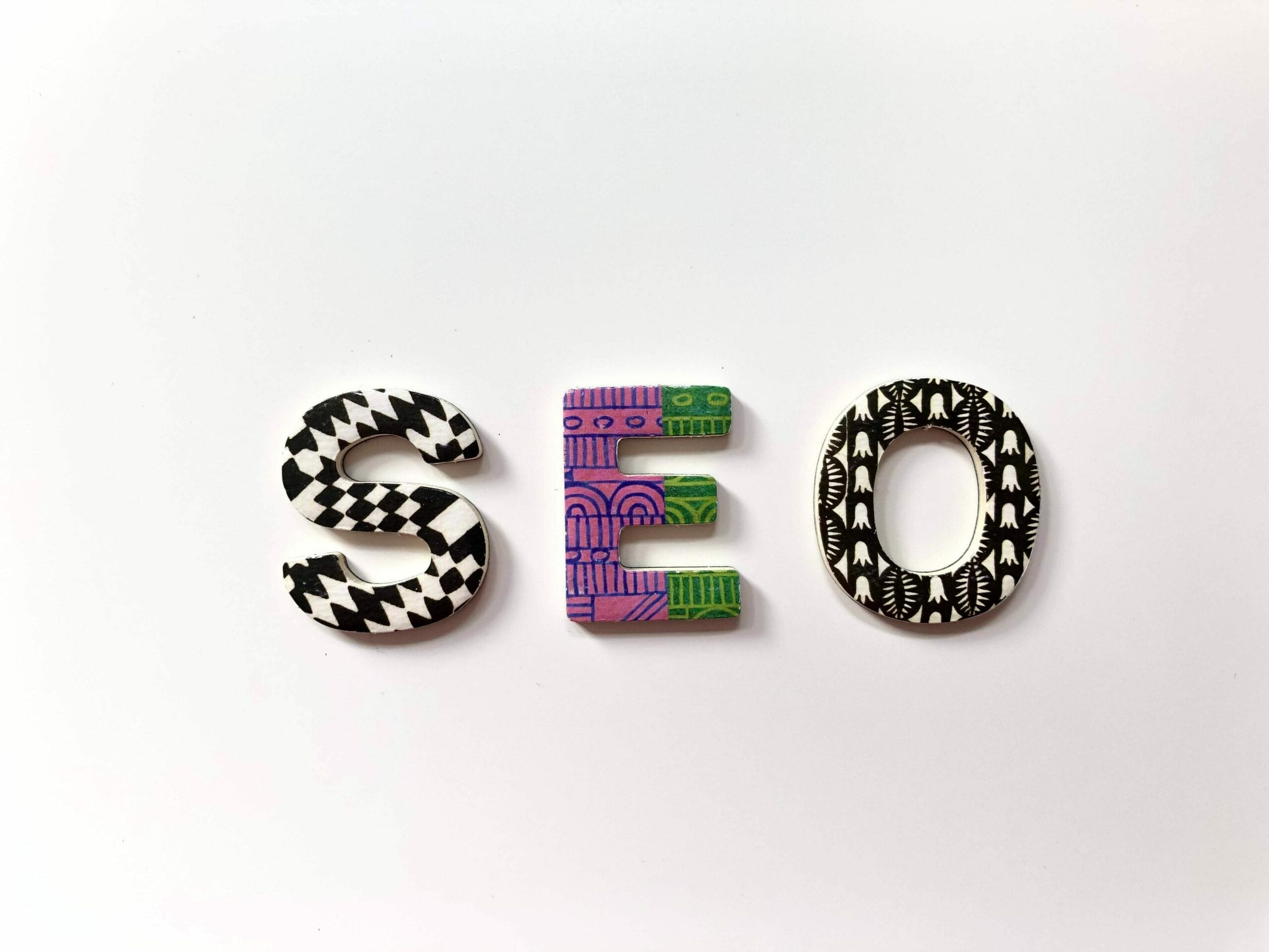 The letters SEO