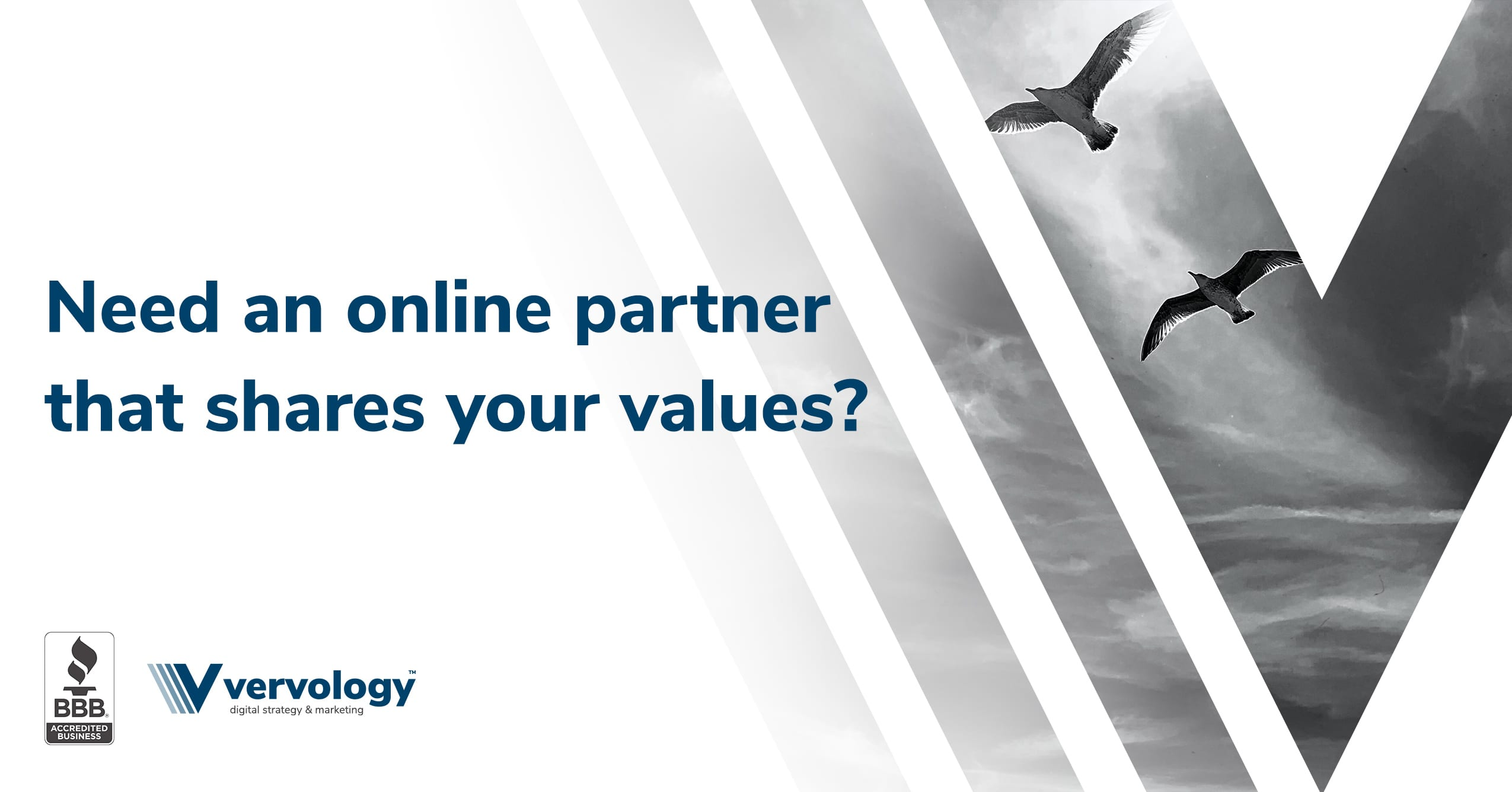 Need an online partner that shares your values?